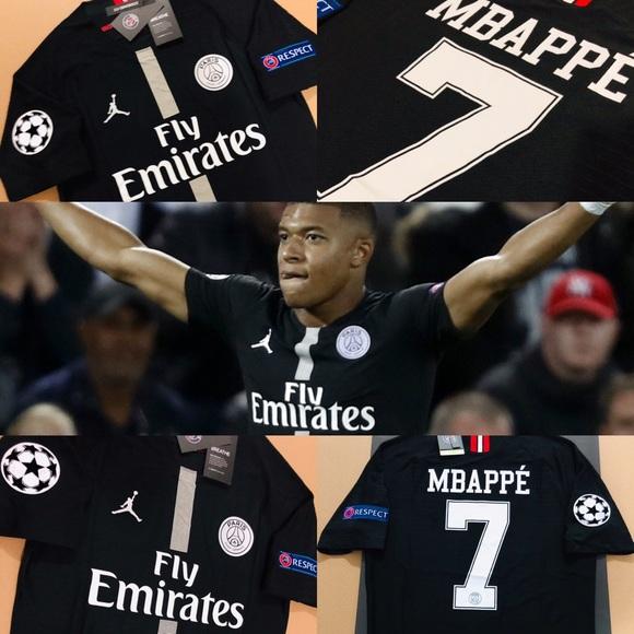 pretty nice 6ee9b ef31b Jordan Mbappe #7 PSG Soccer Vapor Jersey Champions NWT